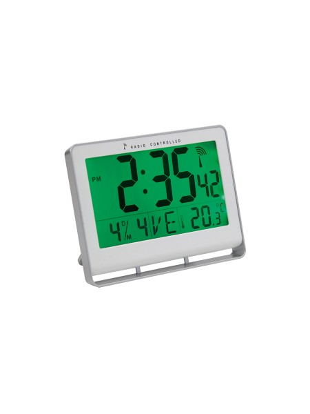 HORLOGE MURALE LCD MULTIFONCTION RADIO-PILOTEE